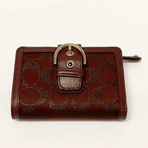 Authentic Coach Burgundy Small Wallet